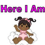 HERE I AM. AFRO AMERICAN BABY GIRL