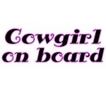 Cowgirl on board