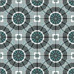 Turquoise Digital Octagon Pattern