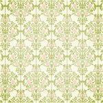 Pink and Green Chandelier Damask