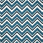 Blue Damask Patterned Chevron Stripes