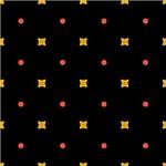 Yellow Squares and Orange Dots Pattern