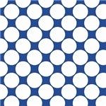 Large White Polka Dots On Blue