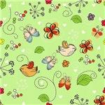 Cute Birds and Butterflies Pattern