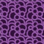 Purple Overlapping Circles Pattern
