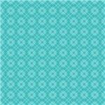 Pretty Turquoise Diamond Plaid