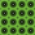 Green Expanding Octagons Pattern