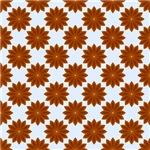 Pretty Brown Star Flower Pattern