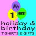 BABY'S FIRST BIRTHDAY AND HOLIDAY T-SHIRTS & GIFTS