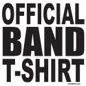 OFFICIAL BAND T-SHIRT T-SHIRTS AND GIFTS