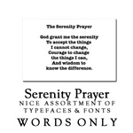 Serenity Prayer Text Section