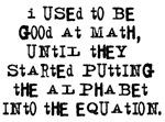 Math and Alphabet