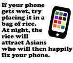 Wet Cellphone