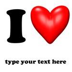 I Love I Heart Customize