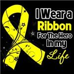 Ribbon Hero in My Life Testicular Cancer Shirts