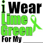 I Wear Lime Green Ribbon T-Shirts & Apparel