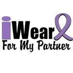 I Wear Violet Ribbon For My Partner