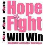 Hope, Fight & Win Breast Cancer T-Shirts & Gifts