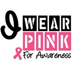 I Wear Pink For Awareness T-Shirts & Gifts