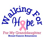 Walking For My Granddaughter Breast Cancer T-Shirt