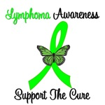 Lymphoma Ribbon Butterfly T-Shirts & Gifts