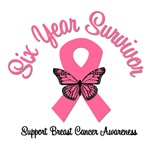 6 Year Breast Cancer Survivor T-Shirts