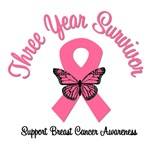 3 Year Breast Cancer Survivor T-Shirts