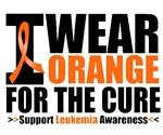 I Wear Orange For The Cure Leukemia Shirts