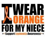I Wear Orange For My Niece Leukemia Shirts
