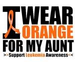 I Wear Orange For My Aunt Leukemia Shirts