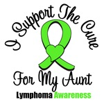I Support The Cure For My Aunt Lymphoma Shirts