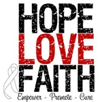 Hope, Love & Faith Lung Cancer Shirts & Gifts