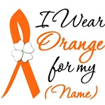 I Wear Orange Ribbon Flower Shirts & Gifts