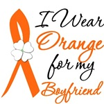 I Wear Orange Flower Boyfriend Leukemia Shirts