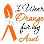 I Wear Orange Flower Aunt Leukemia Shirts