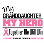 My Granddaughter My Hero Breast Cancer Shirts