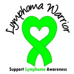 Lymphoma Warrior Heart Ribbon T-Shirts & Gifts