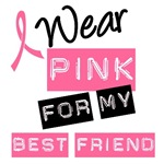 I Wear Pink Ribbon Best Friend Label T-Shirts