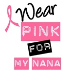 I Wear Pink Ribbon For My Nana Label T-Shirts