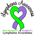 Lymphoma Awareness Violet and Lime Ribbon T-Shirts