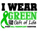 Stem Cell Survivor I Wear Green Gift of Life Shirt