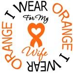 Wear Orange Ribbon Leukemia Wife Shirts & Gifts