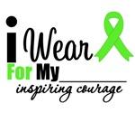 Lymphoma I Wear Lime Green Inspiring Courage Tees