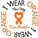 I Wear Orange Ribbon Twin Brother Leukemia Shirts