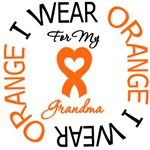 I Wear Orange Grandma Leukemia Shirts
