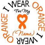 Leukemia I Wear Orange Ribbon Gear & Shirts