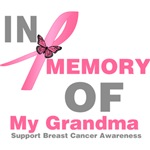 In Memory of My Grandma Breast Cancer Shirts