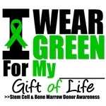 I Wear Green Gift of Life BMT SCT Shirts