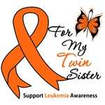 Leukemia Ribbon For My Twin Sister Shirts & Gifts