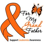 Leukemia Ribbon For My Grandfather Shirts